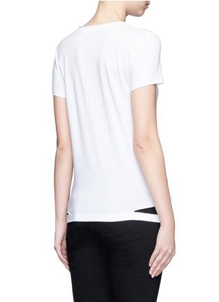 背面 - 点击放大 - HELMUT LANG - 切割装饰纯棉T恤