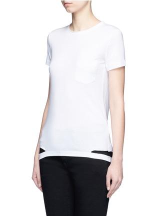 正面 -点击放大 - HELMUT LANG - 切割装饰纯棉T恤