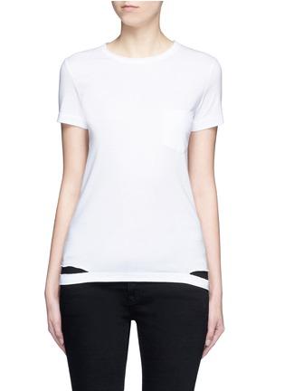 首图 - 点击放大 - HELMUT LANG - 切割装饰纯棉T恤