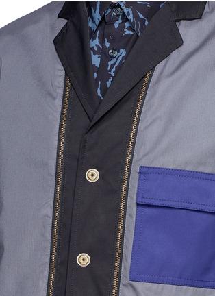 细节 - 点击放大 - MARNI - 两面穿拼色抽绳外套