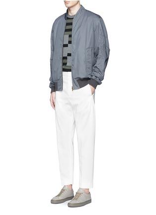 模特儿示范图 - 点击放大 - MARNI - 单色纯棉棒球夹克