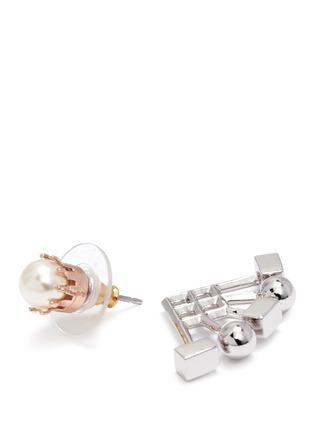 细节 - 点击放大 - JOOMI LIM - Lady Rebel扇形珠饰垂坠耳环