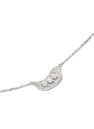 模特儿示范图 - 点击放大 - BAO BAO WAN - 白色18K金钻石珍珠豌豆项链