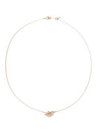 首图 - 点击放大 - BAO BAO WAN - 18K玫瑰金钻石茶壶项链
