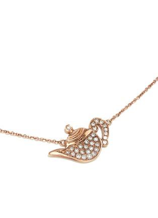 模特儿示范图 - 点击放大 - BAO BAO WAN - 18K玫瑰金钻石茶壶项链