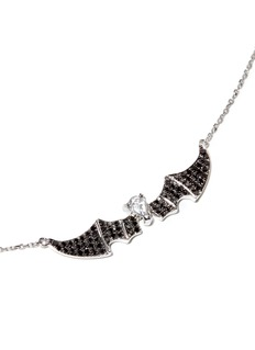 BAO BAO WAN 白色18K金钻石蝙蝠项链