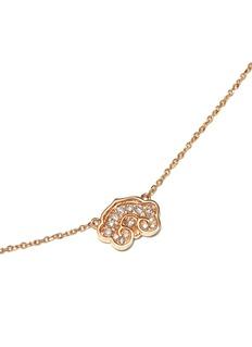 BAO BAO WAN 18K玫瑰金钻石如意项链