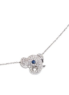 BAO BAO WAN 白色18K金钻石小象项链