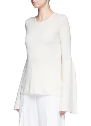 正面 -点击放大 - The Row - 喇叭袖羊绒混丝针织衫