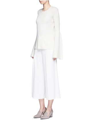 模特儿示范图 - 点击放大 - The Row - 喇叭袖羊绒混丝针织衫