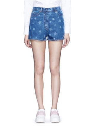 细节 - 点击放大 - VALENTINO - 五角星图案牛仔短裤