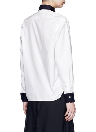 背面 - 点击放大 - HYKE - 仿领巾立领纯棉衬衫