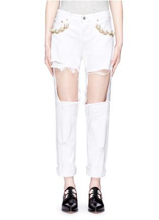 细节 - 点击放大 - FORTE COUTURE - 人造珍珠复古牛仔裤