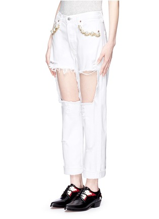 正面 - 点击放大 - FORTE COUTURE - 人造珍珠复古牛仔裤