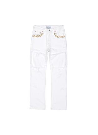 首图 - 点击放大 - FORTE COUTURE - 人造珍珠复古牛仔裤
