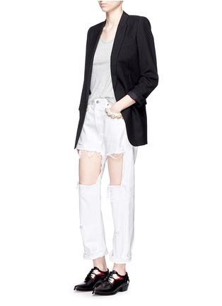 模特示范图 - 点击放大 - FORTE COUTURE - 人造珍珠复古牛仔裤