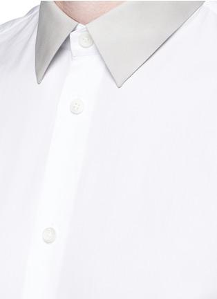 细节 - 点击放大 - BALENCIAGA - 拼色翻领纯棉府绸衬衫