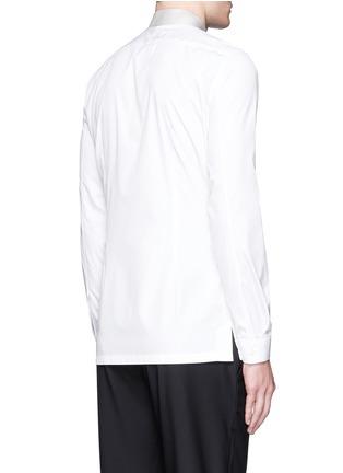 背面 - 点击放大 - BALENCIAGA - 拼色翻领纯棉府绸衬衫