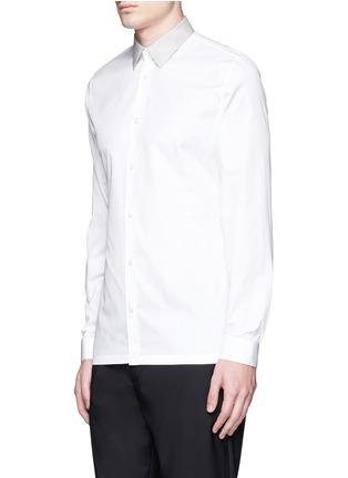 正面 -点击放大 - BALENCIAGA - 拼色翻领纯棉府绸衬衫
