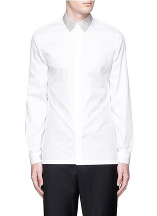 首图 - 点击放大 - BALENCIAGA - 拼色翻领纯棉府绸衬衫