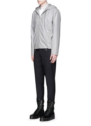 模特儿示范图 - 点击放大 - BALENCIAGA - 拼色翻领纯棉府绸衬衫