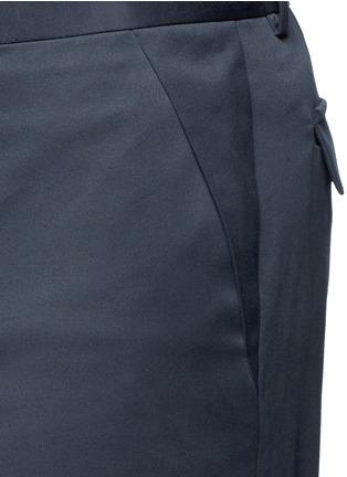 细节 - 点击放大 - BALENCIAGA - 单色纯棉直脚长裤