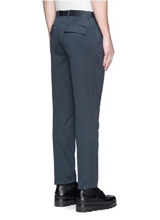 背面 - 点击放大 - BALENCIAGA - 单色纯棉直脚长裤