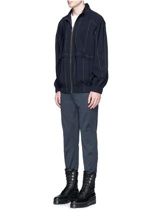 模特儿示范图 - 点击放大 - BALENCIAGA - 单色纯棉直脚长裤
