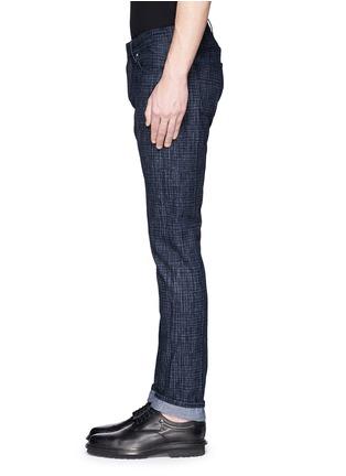 细节 - 点击放大 - BALENCIAGA - 格纹修身牛仔裤