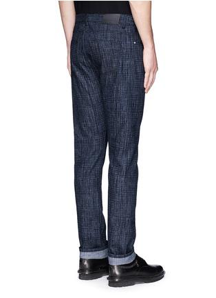 背面 - 点击放大 - BALENCIAGA - 格纹修身牛仔裤