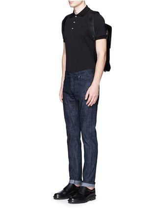 模特儿示范图 - 点击放大 - BALENCIAGA - 格纹修身牛仔裤