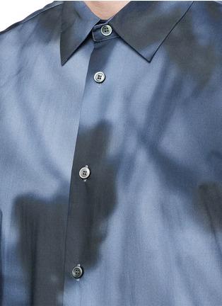 细节 - 点击放大 - BALENCIAGA - shadow图案纯棉府绸衬衫