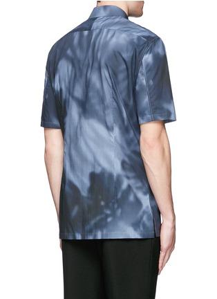 背面 - 点击放大 - BALENCIAGA - shadow图案纯棉府绸衬衫