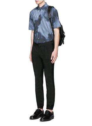 模特儿示范图 - 点击放大 - BALENCIAGA - shadow图案纯棉府绸衬衫