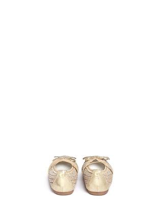 背面 - 点击放大 - STUART WEITZMAN - FANNIE儿童款蝴蝶结镂空平底鞋