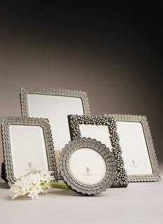 L'OBJET Deco仿水晶点缀折纹相框(6寸)