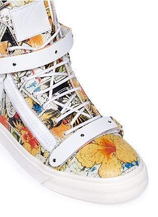 细节 - 点击放大 - GIUSEPPE ZANOTTI DESIGN - London卡通画真皮高筒运动鞋