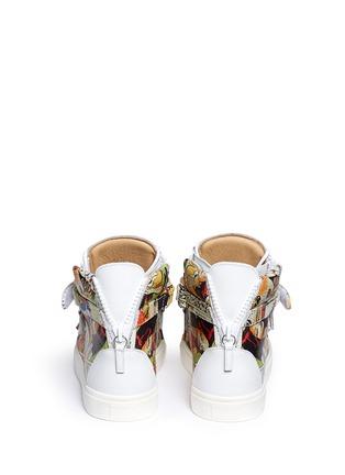 背面 - 点击放大 - GIUSEPPE ZANOTTI DESIGN - London卡通画真皮高筒运动鞋