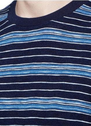 细节 - 点击放大 - DENHAM - SIGNATURE横纹纯棉T恤