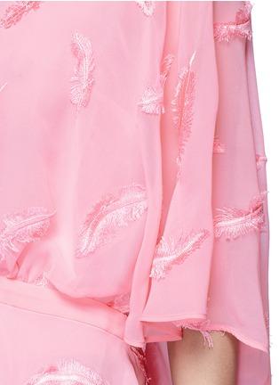 细节 - 点击放大 - EMILIO PUCCI - 立体羽毛刺绣蝙蝠袖上衣