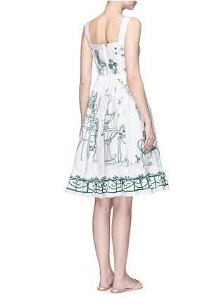 背面 - 点击放大 - DOLCE & GABBANA - 花园印花纯棉连衣裙