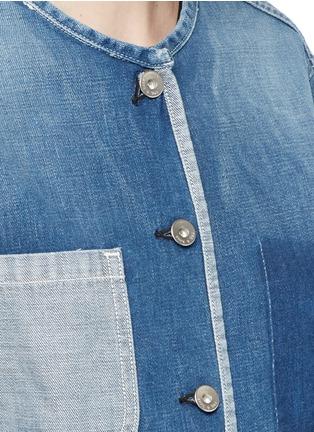 细节 - 点击放大 - RAG & BONE/JEAN - SANTA CRUZ拼色水洗牛仔夹克