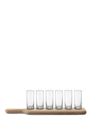 首图 - 点击放大 - LSA - PADDLE伏特加酒杯连橡木托盘套装