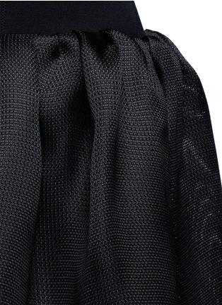 细节 - 点击放大 - OSCAR DE LA RENTA - 交叉露背钟形连衣裙