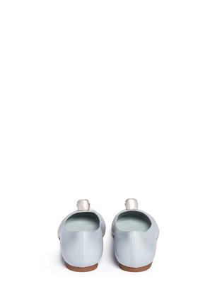 背面 - 点击放大 - Alexander McQueen - 仿水晶骷髅头真皮平底鞋