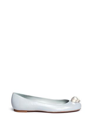 首图 - 点击放大 - Alexander McQueen - 仿水晶骷髅头真皮平底鞋