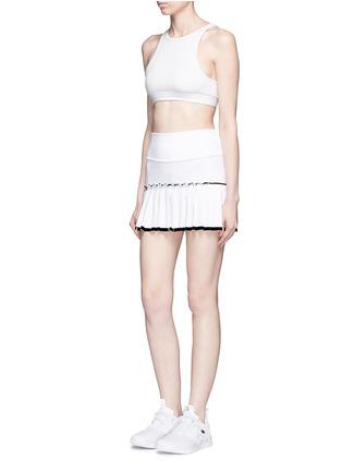 模特示范图 - 点击放大 - MONREAL LONDON - 百褶裙摆弹力半身裙