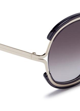 细节 - 点击放大 - CHLOÉ - JAYME金属拼树脂圆框太阳眼镜
