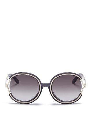 首图 - 点击放大 - CHLOÉ - JAYME金属拼树脂圆框太阳眼镜