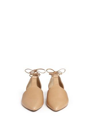 正面 -点击放大 - VINCE - Noella系带侧空尖头平底鞋